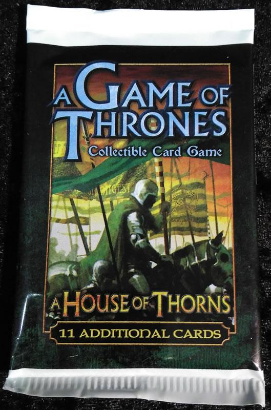Letztes einzelnes Booster-Pack von: Game of Thrones - Sammelkartenspiel (Englisch): A House of Thorns Edition Booster