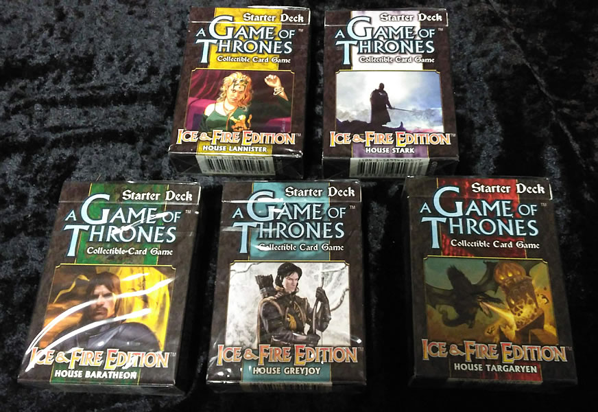 Game of Thrones - Sammelkartenspiel (Englisch): 5 Häuser (5 Starter Decks)