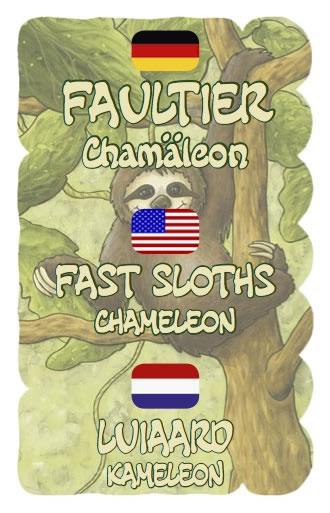 Faultier: Das Chamäleon - Promokartenset