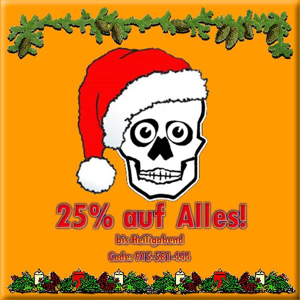 25% auf Alles und frohes Fest
