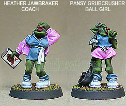 GRIDIRON ORC TEAM COACH AND BALL GIRL - Blood Bowl Führungsspitze (Orkteam)